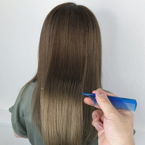 「小顔」カット+[ツヤUP]美容液カラー(白髪染め対応)+デンキバリブラシヘッドスパ
