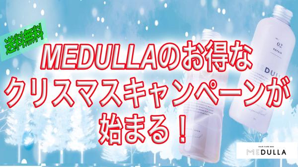 【クリスマスプレゼントはこれで決まり】メデュラMEDULLAのクリスマスキャンペーンがお得すぎる|オーダーメイドシャンプーメデュラ